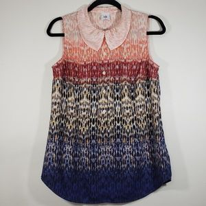 CAbi Ombre Colorful Peter Pan Collar Sleeveless